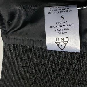 UNIF Tops - Faux leather UNIF Black Bralette